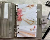 Personal Size Planner Dashboard - Protective Cover for your Ring Planner Inserts - Books, Phone, Flowers, Earrings