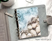B6 Planner Dashboard - Protective Cover for Ring Planner Inserts - Sea and Pebbles - Beach