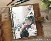 A5 Planner Dashboard - Protective Cover for Ring Planner Inserts - Walking in Snow