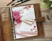 A5 Planner Dashboard - Protective Cover for Ring Planner Inserts - Flowers, Books, Phone and Earrings