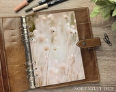 A5 Planner Dashboard - Protective Cover for Ring Planner Inserts - Wild Flowers - Neutral Floral