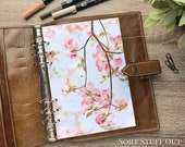 A5 Planner Dashboard - Protective Cover for Ring Planner Inserts - Pale Pink Blossom