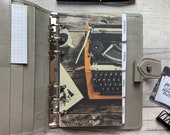 Personal Size Planner Dashboard - Protective Cover for your Ring Planner Inserts - Retro Typewriter