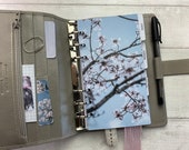 Personal Size Planner Dashboard - Protective Cover for your Ring Planner Inserts - Blossom Branches