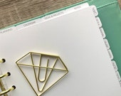 Personalised Custom Top Tab Planner Dividers. Kikki K, Carpe Diem Compatible A5 Size. Minimal and Modern Planning.