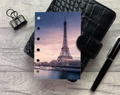 Pocket Size Planner Dashboard - Protective Cover for your Ring Planner Inserts - Paris - Seine at Sunset