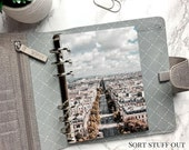 Paris Boulevard - Architecture Dashboard - Fits A5, B6, Personal Wide, Personal, A6, Pocket, Mini Ring Planners. Protective Cover.