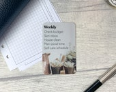 Custom Task Card - Neutral Pot Plants - Personalised Task Card for Your Planner - Add Tasks, Routines, Reminders - Functional, Minimal Deco
