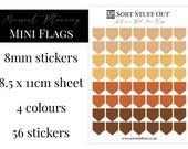Autumn Reds Mini Flag Stickers - Mark off Dates and Occasions - Minimal Functional Stickers - Small Sheet fits in Most Planners