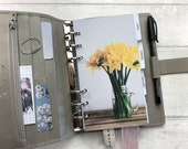 Personal Size Planner Dashboard - Protective Cover for your Ring Planner Inserts - Spring Daffodils