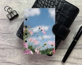 Pocket Size Planner Dashboard - Protective Cover for Ring Planner Inserts - Blue Sky Floral