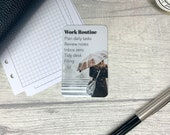 Custom Task Card - Rainy Walk - Personalised Task Card for Your Planner - Add Tasks, Routines, Reminders - Functional, Minimal Deco