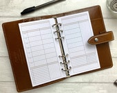PRINTED - Neutral Grid WO2P Weekly Insert for Personal Size Rings. Blank Headings with Task and Habit Tracker. Fits LV MM, Kikki K Medium.