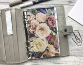 Personal Size Planner Dashboard - Protective Cover for your Ring Planner Inserts - Bouquet of Roses - Muted Colours - Floral