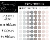 Pink Tone Neutrals Planner Dot Stickers - Colour Code your Planning. Minimal Planner Deco for All Planners. 80 Stickers on One Sheet
