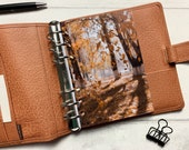 Autumn Tree Shadows - Fits A5, B6, Personal Wide, Personal, A6, Pocket, Mini Ring Planners. Protective Cover.