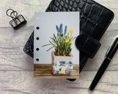 Pocket Size Planner Dashboard - Protective Cover for Ring Planner Inserts - Spring Planter - Floral