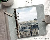 B6 Planner Dashboard - Protective Cover for Ring Planner Inserts - Paris Apartments - Architecture