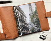Autumn in Paris Dashboard - Fits A5, B6, Personal Wide, Personal, A6, Pocket, Mini Ring Planners. Protective Cover.