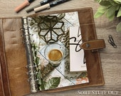 A5 Planner Dashboard - Protective Cover for Ring Planner Inserts - Espresso on Tiles