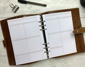 PRINTED - A5 Basic Neutral Grid WO2P - Space for Tasks and To-Do Lists, Notes, Tracking - Blank Headings for Your Own Use