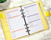 Slimming World Personal Planner Printed Inserts - Track weight Loss, meal plan, shopping list and goals in your Personal Size Ring Planner