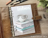 A5 Planner Dashboard - Protective Cover for Ring Planner Inserts - Stack of Books Inbox