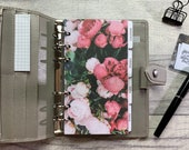 Personal Size Planner Dashboard - Protective Cover for your Ring Planner Inserts - Bouquet of Pink Peonies