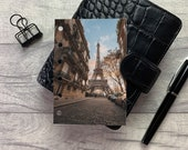 Paris Sunset - Warm Tones - Dashboard - Fits A5, B6, Personal Wide, Personal, A6, Pocket, Mini Ring Planners. Protective Cover.