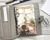 Inbox - Sunny - Interior Design Dashboard - Fits A5, B6, Personal Wide, Personal, A6, Pocket, Mini Ring Planners. Protective Cover.