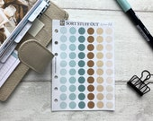 A6 Size Punched Planner Dot Stickers - Colour Code your Planning. Minimal Planner Deco for Personal Planners