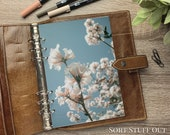 A5 Planner Dashboard - Protective Cover for Ring Planner Inserts - Blue Sky & Cluster Blossom - Floral