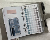 Personal Size Punched Planner Dot Stickers - Magnolia Blue Neutral  - Colour Code your Planning. Minimal Planner Deco for Personal Planners