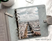 B6 Planner Dashboard - Protective Cover for Ring Planner Inserts - Paris Boulevard - Architecture
