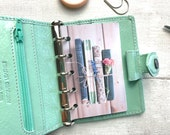 Filofax Mini Size Planner Dashboard - Protective Cover for your Ring Planner Inserts - Vintage Books and Flowers - Reading