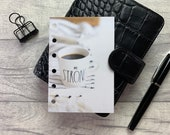Pocket Size Planner Dashboard - Protective Cover for your Ring Planner Inserts - Be Strong - Black Coffee - Motivation