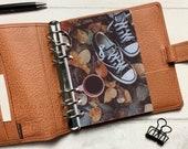 Autumn Converse Dashboard - Fits A5, B6, Personal Wide, Personal, A6, Pocket, Mini Ring Planners. Protective Cover.