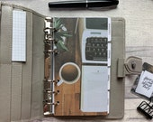 Personal Size Planner Dashboard - Protective Cover for your Ring Planner Inserts - Typewriter, Coffee and Manuscript
