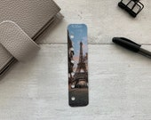 Photo Page Marker - Eiffel Sunset - Choose A5, B6, Personal Wide, Personal, A6, Pocket, Mini - Add Custom Text - Planner Bookmark