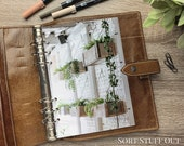 A5 Planner Dashboard - Protective Cover for Ring Planner Inserts - Hanging Planters - Ivy - Foliage