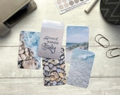 Journal Cards - Beach Vibes Holiday Set - 5 Pack for Planner Deco - Use as Bookmarks, Decoration - Clip and Card Holder Options