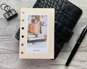 Pocket Size Planner Dashboard - Protective Cover for your Ring Planner Inserts - Just Start - Coffee and Books - Motivation