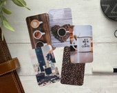 Journal Cards - Life Begins After Coffee Set - 5 Pack for Planner Deco - Use as Bookmarks, Decoration - Clip and Card Holder Options