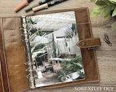 A5 Planner Dashboard - Protective Cover for Ring Planner Inserts - Summer Patio - Foliage