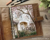Magnolia by Porch - Floral Dashboard - Fits A5, B6, Personal Wide, Personal, A6, Pocket, Mini Ring Planners. Protective Cover.