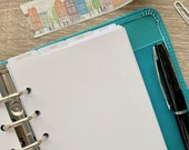 Personalised Custom Top Tab Personal Size Planner Dividers. Minimal and Modern Planning.