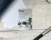 Custom Task Card - Rug and Plants - Personalised Task Card for Your Planner - Add Tasks, Routines, Reminders - Functional, Minimal Deco