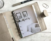 A6 Size Planner Dashboard - Protective Cover for Ring Planner Inserts - Interior Design - Shelf and Cushions