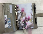 Personal Size Planner Dashboard - Protective Cover for your Ring Planner Inserts - Magnolia Buds