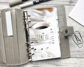 Be Strong - Coffee - Neutral - Motivation Dashboard - Fits A5, B6, Personal Wide, Personal, A6, Pocket, Mini Ring Planners. Protective Cover